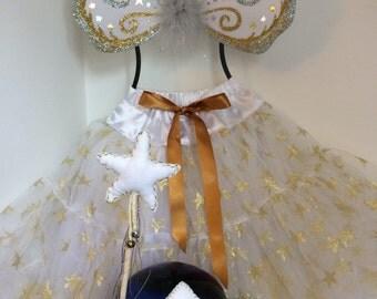 Gold faerie costume