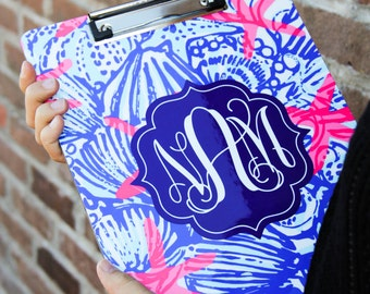 Lilly Pulitzer inspired Clipboard Darling Personalized  Clipboards monogram