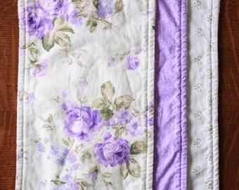 Lavender Burp cloths - Floral burp cloths - Baby girl burp cloths - Baby girl gift
