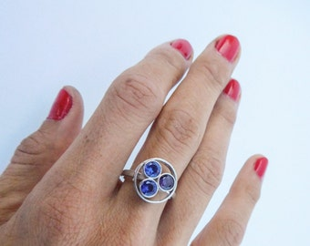 Sterling Silver Family Birthstone Ring/ Personalized Birth stone for family, mothers