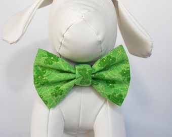 Light Green Saint Patrick's Day Dog Bow