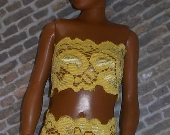Lammily Stretch Lace Undies in Yellow