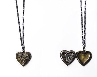 Locket necklace Heart pendant Locket pendant Heart locket pendant Photo locket Photo locket pendant Photo heart pendant Brass heart necklace