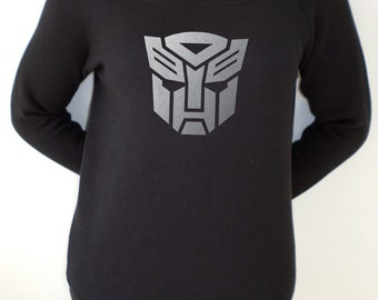 Transformers Autobots logo design slouch sweatshirt for women