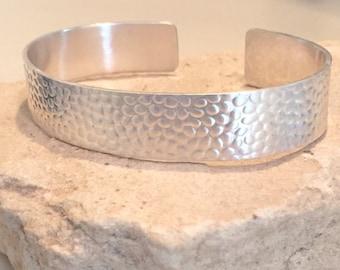 Sterling silver patterned cuff bracelet, sterling silver bracelet, cuff bracelet, sterling silver cuff bracelet, stackable bracelet