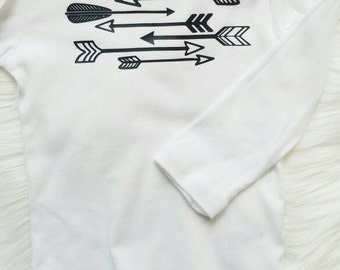 Baby shirt Arrows + Baby Clothes + Baby Onsies +Gender Neutral + Birthday Gift + Coming Home outfit + Black and White + Arrow + New Baby