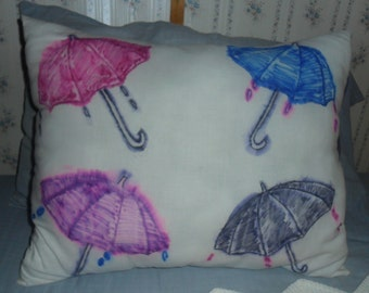 When It Rains... Water Color Pillow