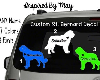 Custom St. Bernard Decal - YOU CHOOSE!