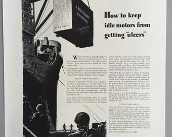 1942 Union Oil Company of California Print Ad - World War II Era