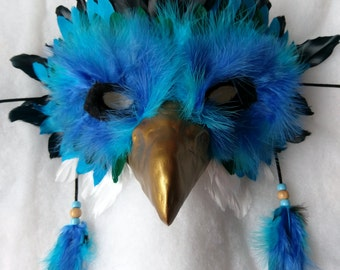 Ice Griffin Mask - Fantasy Blue