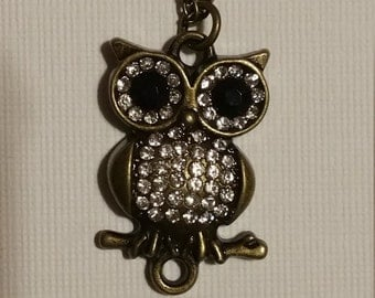 Owl sitting on a branch necklace