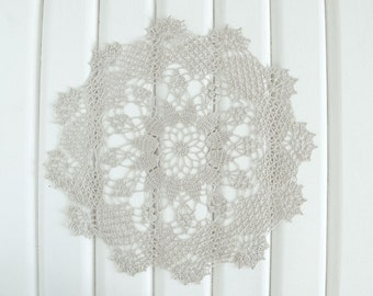 Beige Crochet Doily, lace doily, home decor, table decoration, handmade, center piece