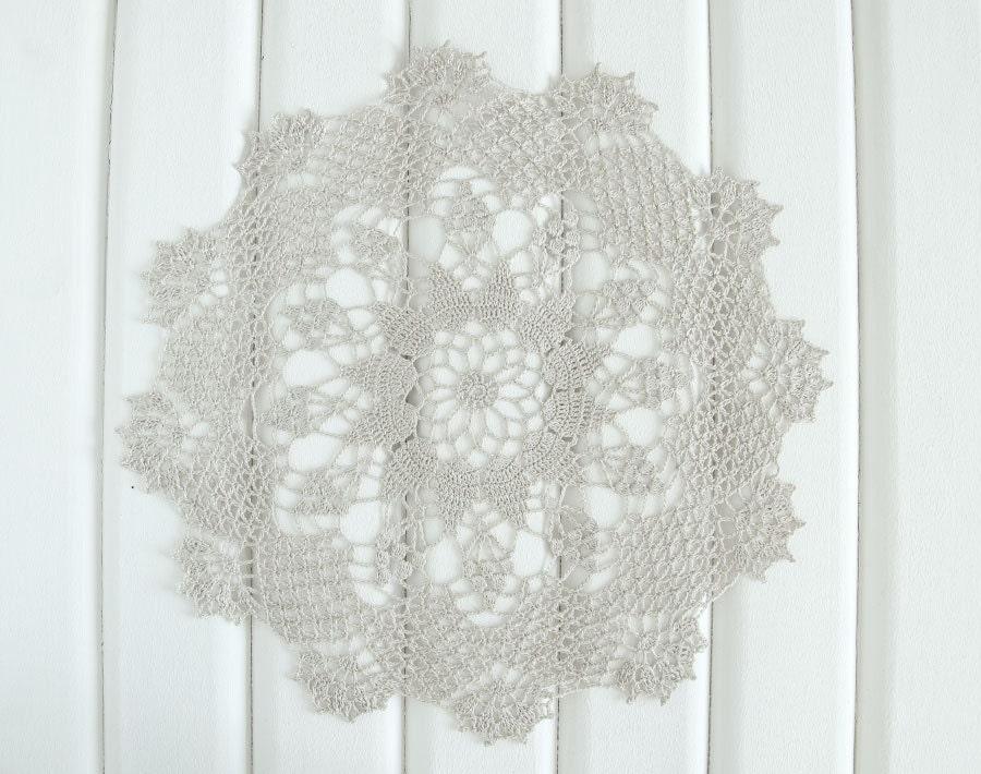 Beige crochet doily lace doily home decor table decoration for Lace home decor