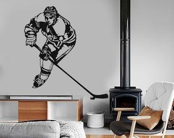 Wall Vinyl Decal Hockey Winter Sport Cool Amazing Decor For Living Room 1281dz