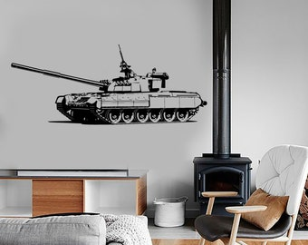 Wall Vinyl Heavy Tank Military Forces War Guaranteed Quality Decal Mural Art 1633dz