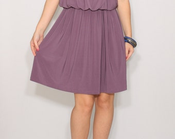 Plum dress Purple Bridesmaid dress Short dress Party dress