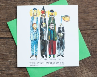 The Post Impressionists - Greetings Card - Humour - Art History - Pun
