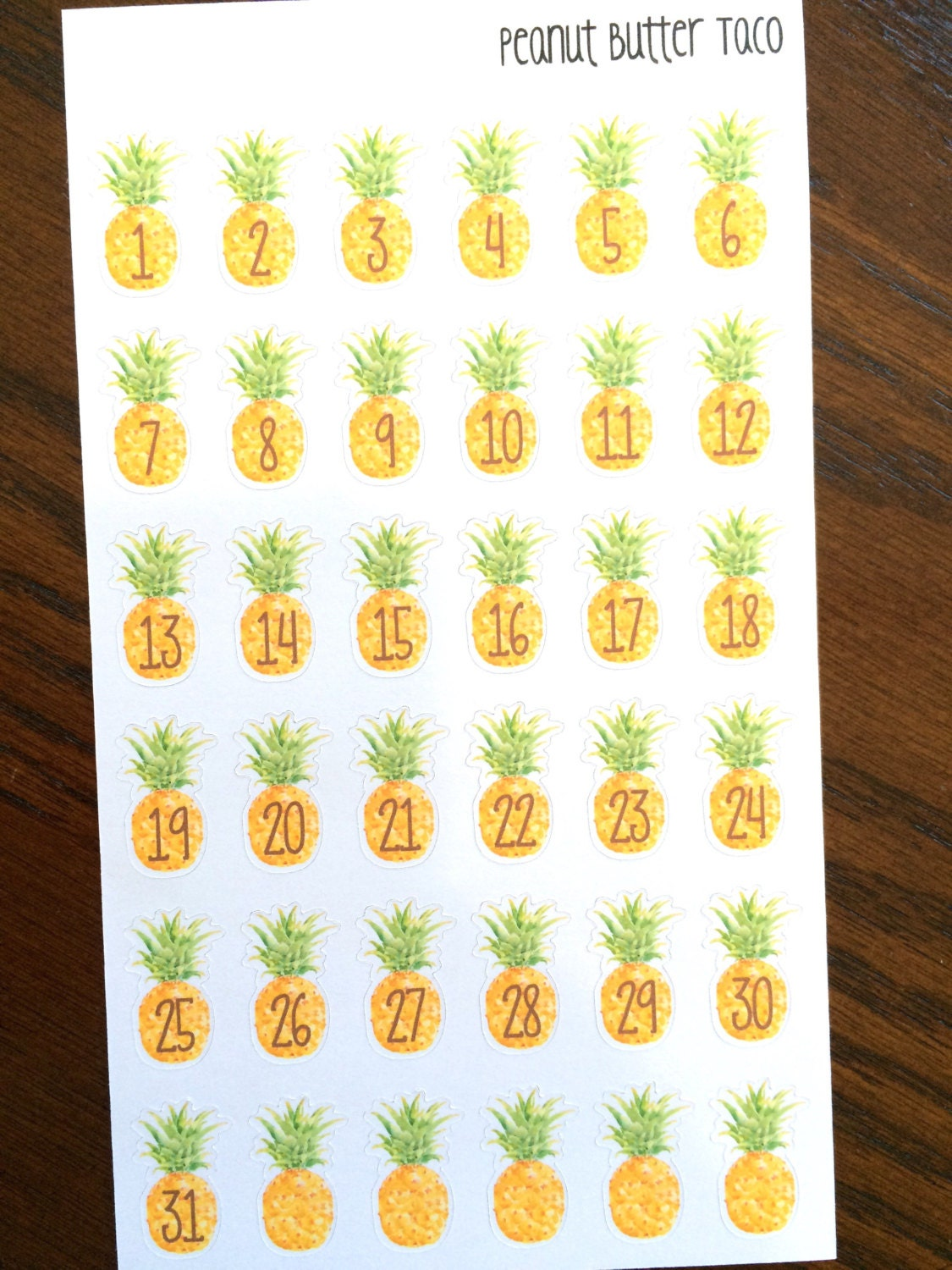 pineapple planner stickers pineapple stickers date covers stickers vacation countdown. Black Bedroom Furniture Sets. Home Design Ideas