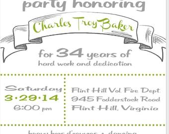 Retirement Party Invitation, Printable