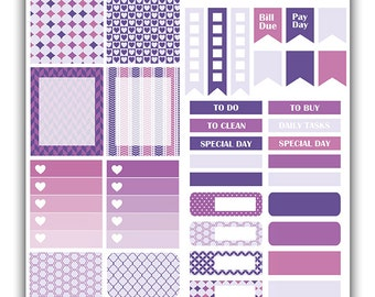 Plum weekly stickers kit | Themed weekly kit | Erin Condren vertical theme weekly kit | Weekly planner stickers
