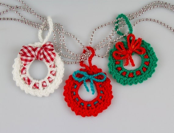 Christmas Crochet Wreath Crochet Pattern Amigurumi Crochet