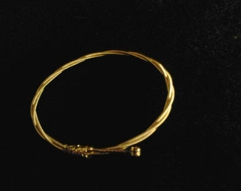 Guitar String Bracelet Gold Bangle