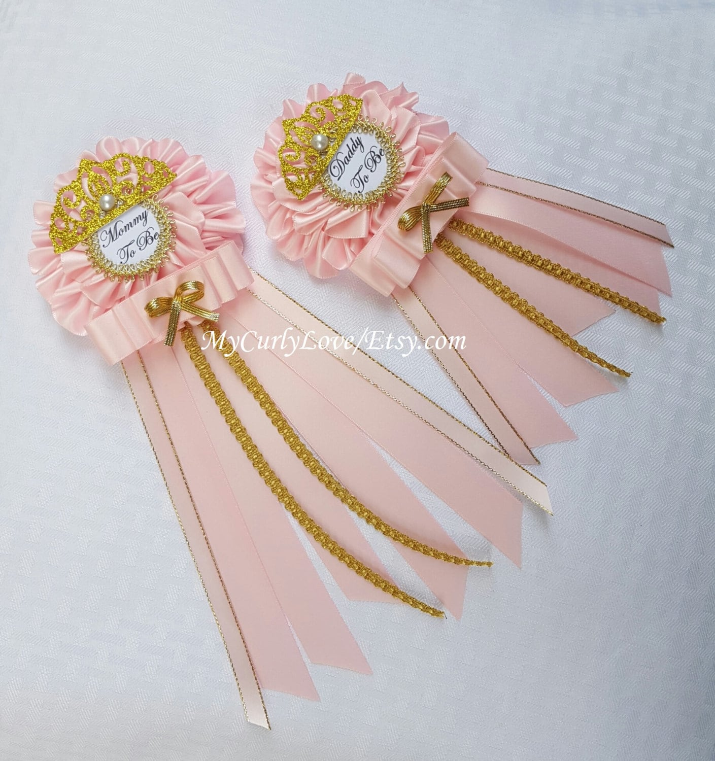 Princess Mommy to be Baby Shower Corsage Princess Baby Shower