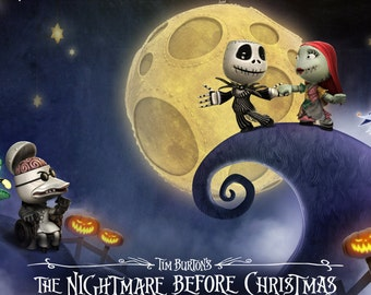 "Jack Skellington The Nightmare Before Christmas Poster 8.5"" x 11"" - 11"" x 17"" - 13"" x 19"""