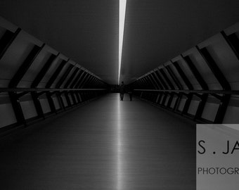 Tunnel to... , Architecture, Fine Art Photography, History, Black and White, Gift for Her Him, London