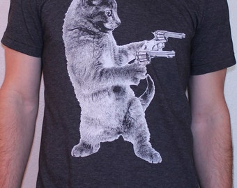 Gunslinger Kitty - Cat T-Shirt
