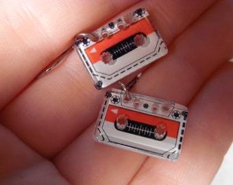 Cassette Tape Charm Earrings