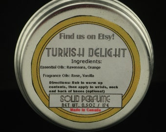 Turkish Delight 0.5oz Solid Perfume Tin