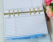 PRINTABLE Monthly Activity Tracker for Personal Size Planner inserts - Kikki K planner inserts