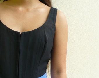 Black Corset Crop top