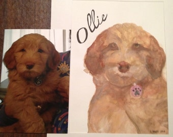 PERSONALIZED PET WATERCOLOR painting