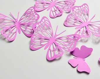 3D Butterflies Stickers, Paper Butterfly Wall Art, 3D Paper Wall Butterfly Decoration, Butterfly Birthday Decor, Butterflies Wall Decal