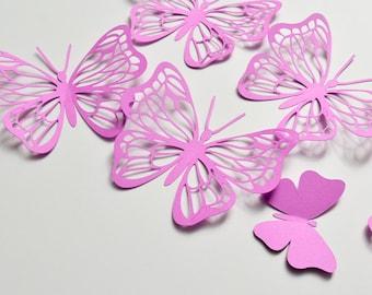 mur 3d en papier papillon sticker 3d papier papillon. Black Bedroom Furniture Sets. Home Design Ideas