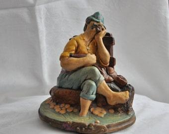 ON SALE 50% of Vintage Ceramic Figurine  retro Statuette Gift idea