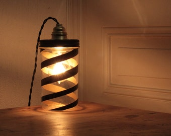 lamp jar familia wiss spiral black and gold