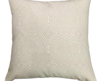 "Beige Matallic Circle Decorative Throw Pillow Cover- 18""x18"" or 20""x20"" or 22""x22"" or 24""x24"" Fabulous Geomatric Design."
