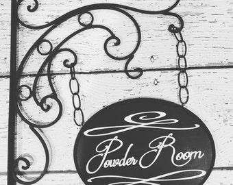 Bathroom Sign - Restroom Sign - Powder Room Sign - Bathroom Decor - Bathroom Wall Decor - Wood Bathroom Sign