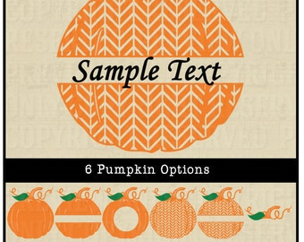 Pumpkin svg pumpkin cut file silhouette cut file cricut for Monogram pumpkin templates