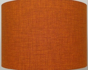 Burnt Orange / Rust Linen Effect Lampshade, Table Lamp, Pendant, Ceiling Shade