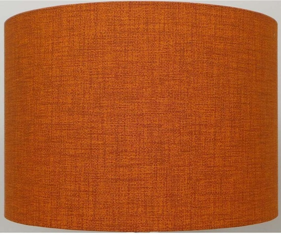Burnt Orange / Rust Linen Effect Lampshade Table Lamp