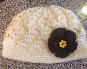 Newborn baby hat,crochet beani hat.