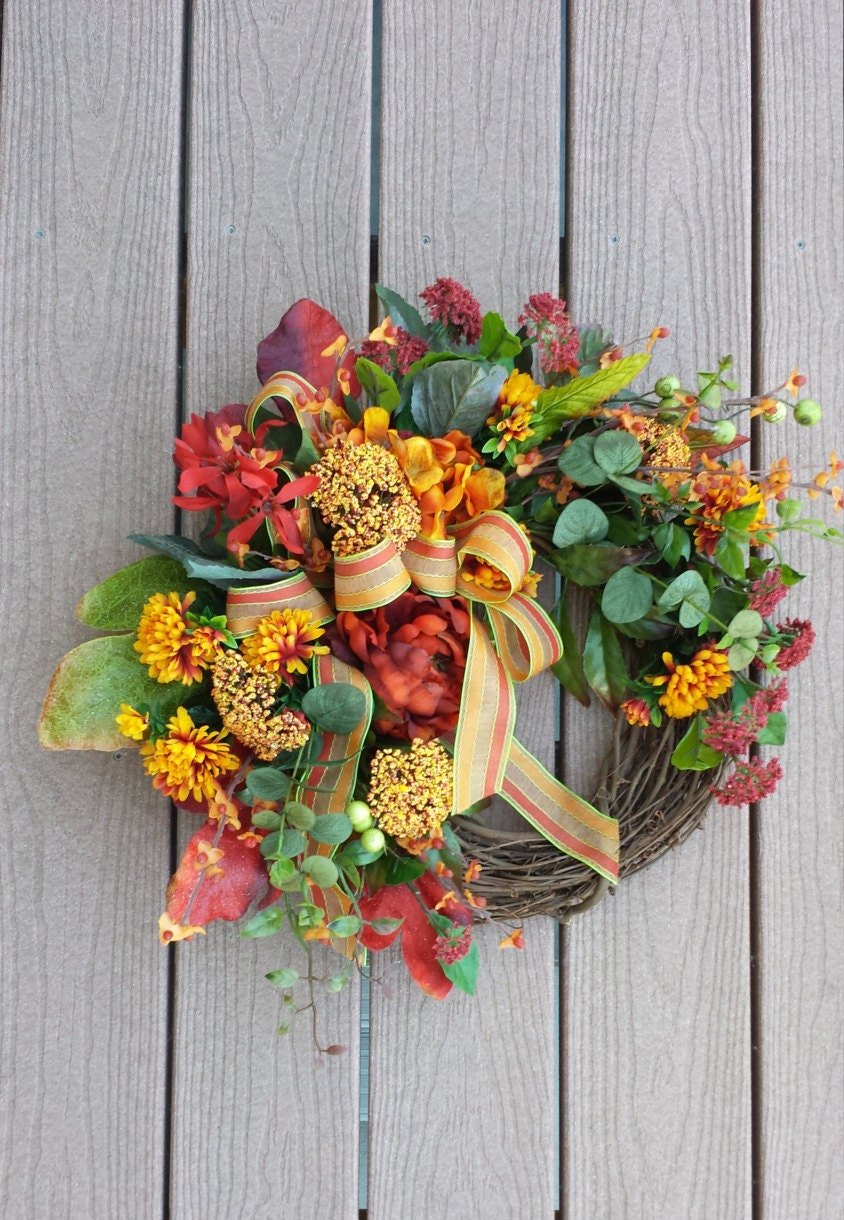 Fall Wreath Front Door Decor Wreath Autumn Door Decor: fall autumn door wreaths