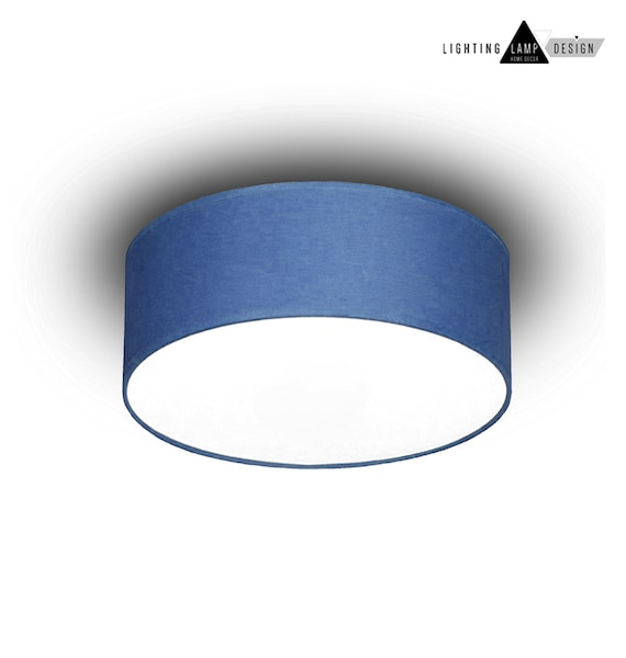Blue flush mount ceiling ceiling lamp shade blue kids like this item aloadofball Image collections