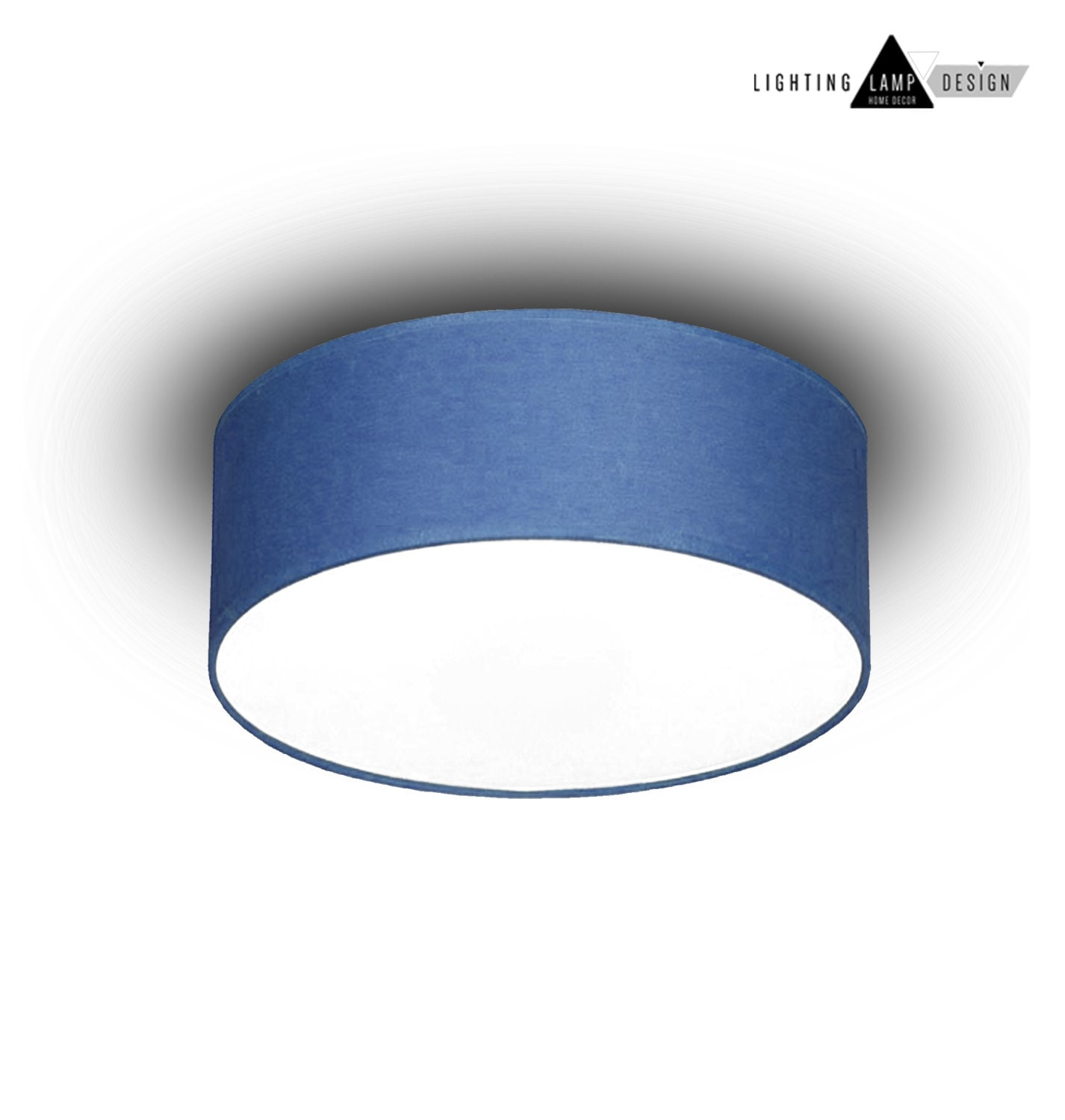 blue flush mount ceiling -ceiling lamp shade - blue kids light