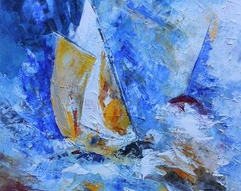 Painting sailboats