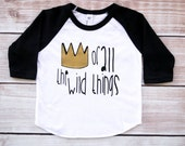 king of all the wild things, where the wild things are, crown, wild things baby, baby shirts, raglan, baby, baseball tee, clothing, raglan